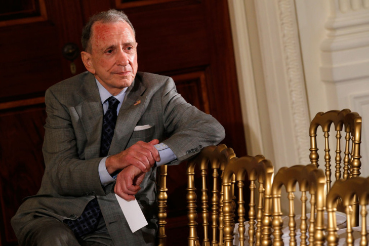 U.S. Sen. Arlen Specter (D-PA) attends a reception in honor of Jewish American Heritage Month May 27, 2010 in the East Room of the White House in Washington, DC. He died at 82, October 14, 2012, from complications of non-Hodgkins lymphoma.