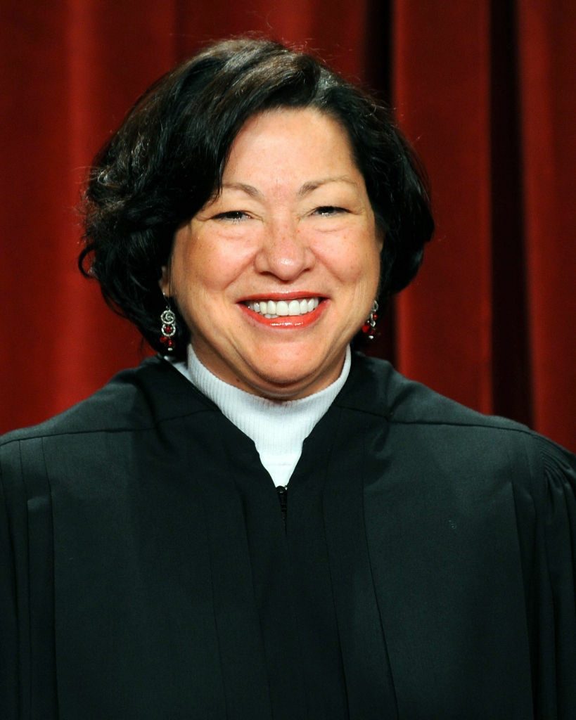 US Supreme Court Justice Sonia Sotomayor.