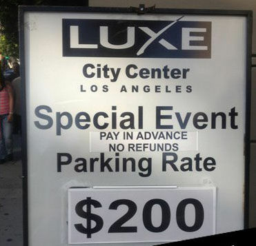 Game 4 of the Stanley Cup Finals had the Luxe hotel charging $200 for parking.
