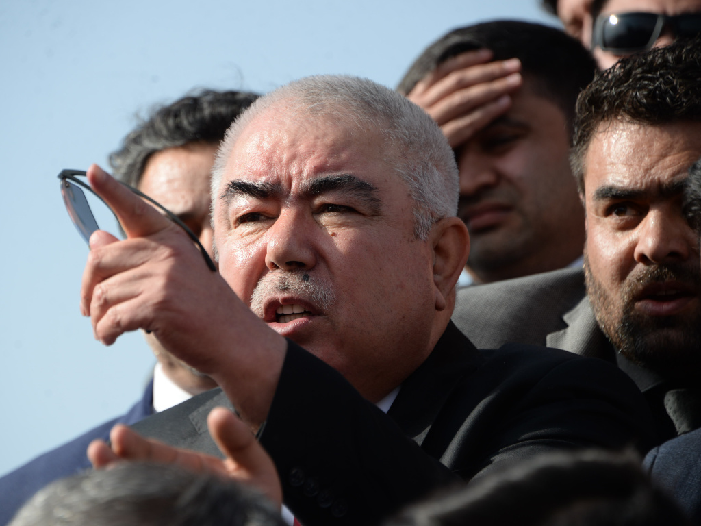 Afghan Vice President Abdul Rashid Dostum arrives in Kabul in 2018. Dostum survived a second attempt on his life in under a year on Saturday afternoon.