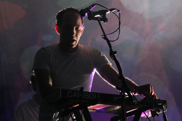 Caribou performs on Day One of the Coachella Music Festival.