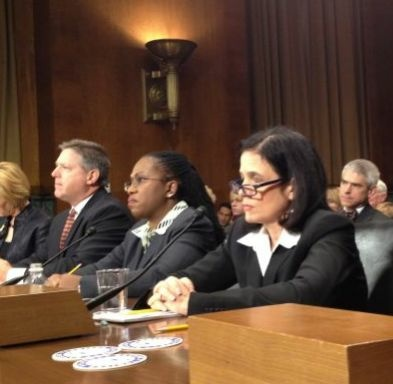 The nomination of L.A. Superior Court Judge Beverly Reid O'Connell (right) to the federal bench has been approved by the Senate Judiciary Committee.