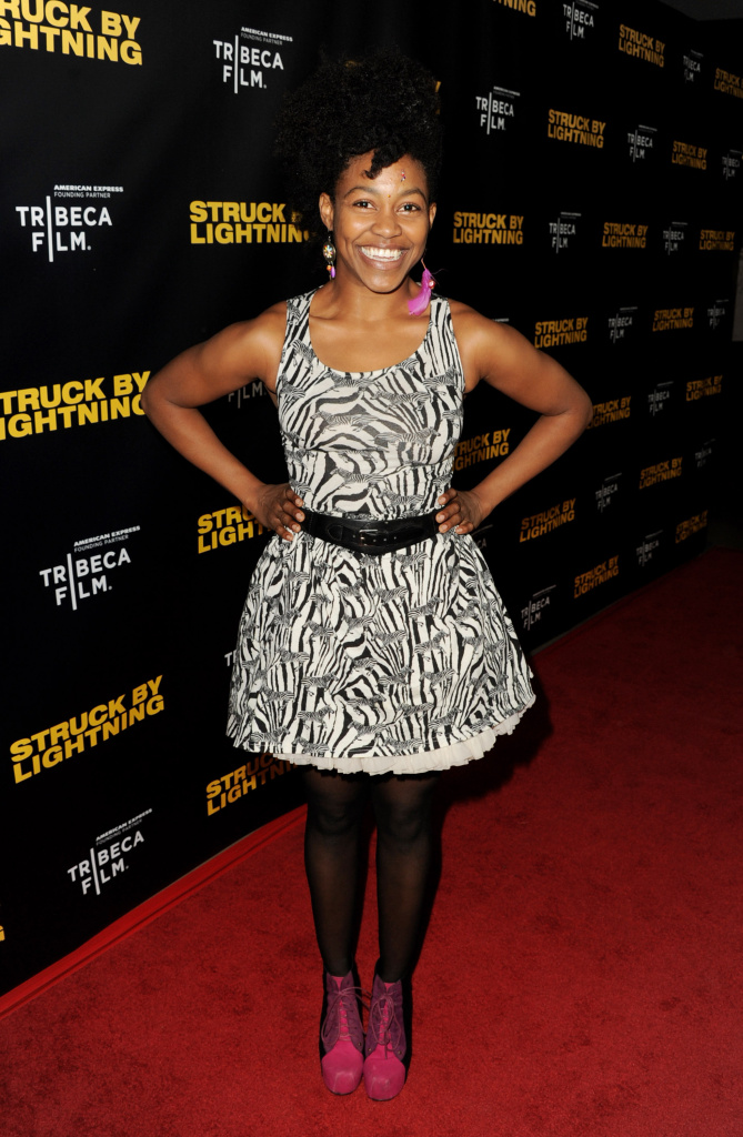 Actress Danielle Watts arrives at a screening of Tribeca Film's