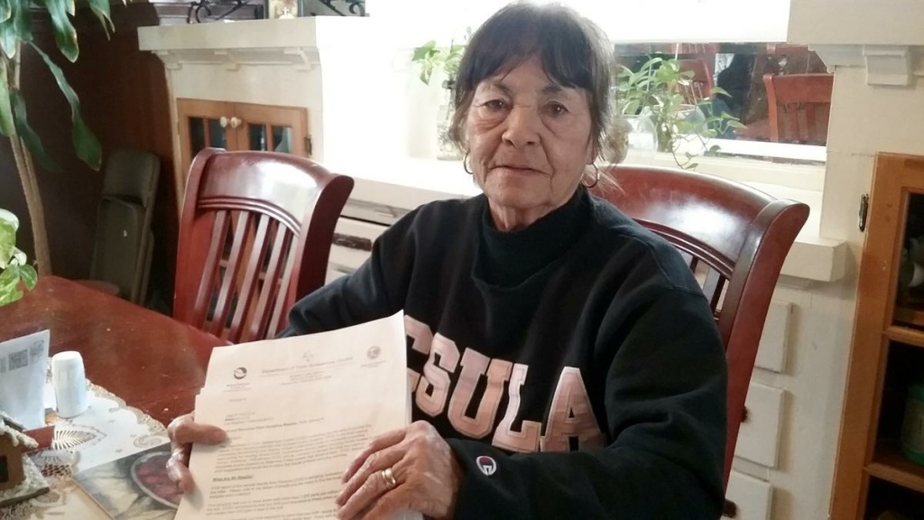 Emma Flores, 69, worries about her two grandsons who live at her home.