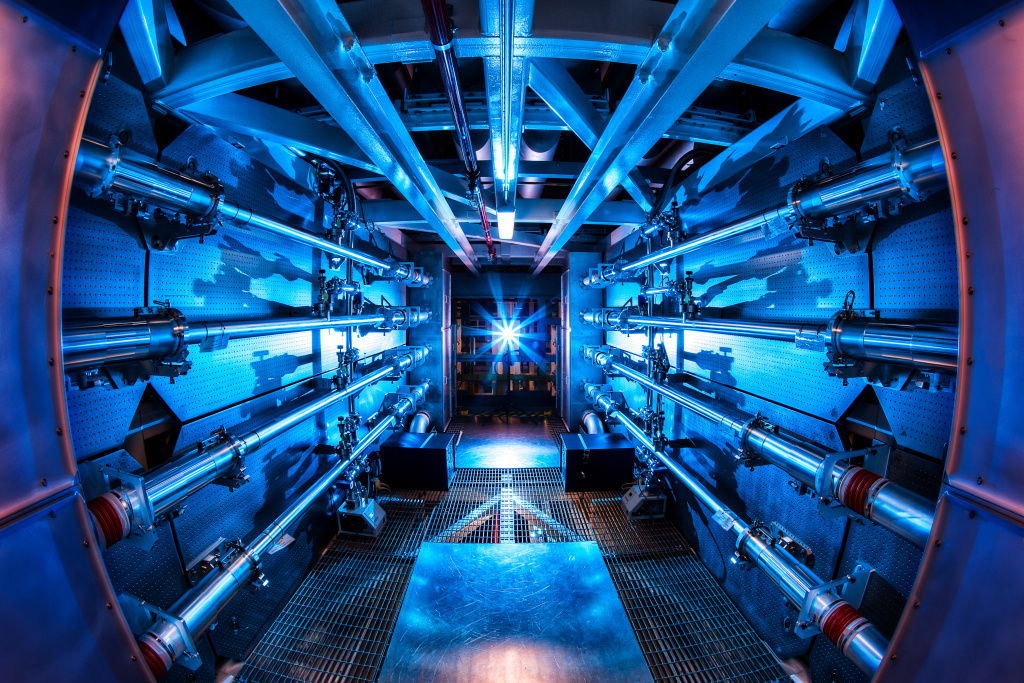 The National Ignition Facility at Lawrence Livermore National Laboratory.
