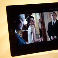 "A scene from UK drama ""Downton Abbey"" is displayed following a live stream of it's US launch, at an event in central London on March 7, 2012."