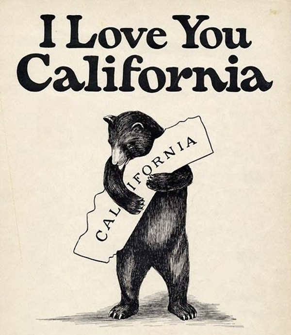 Cover of the sheet music for 'I Love You California,