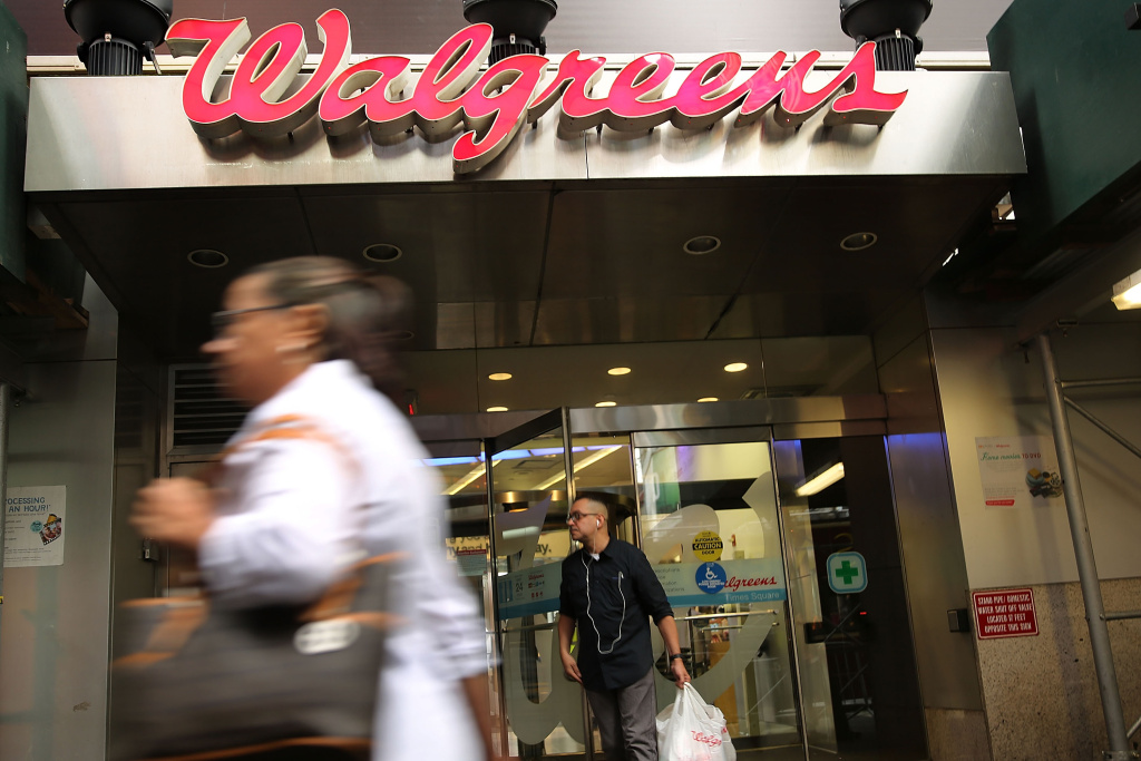 A Walgreens's store is viewed in Manhattan on September 30, 2014 in New York City.