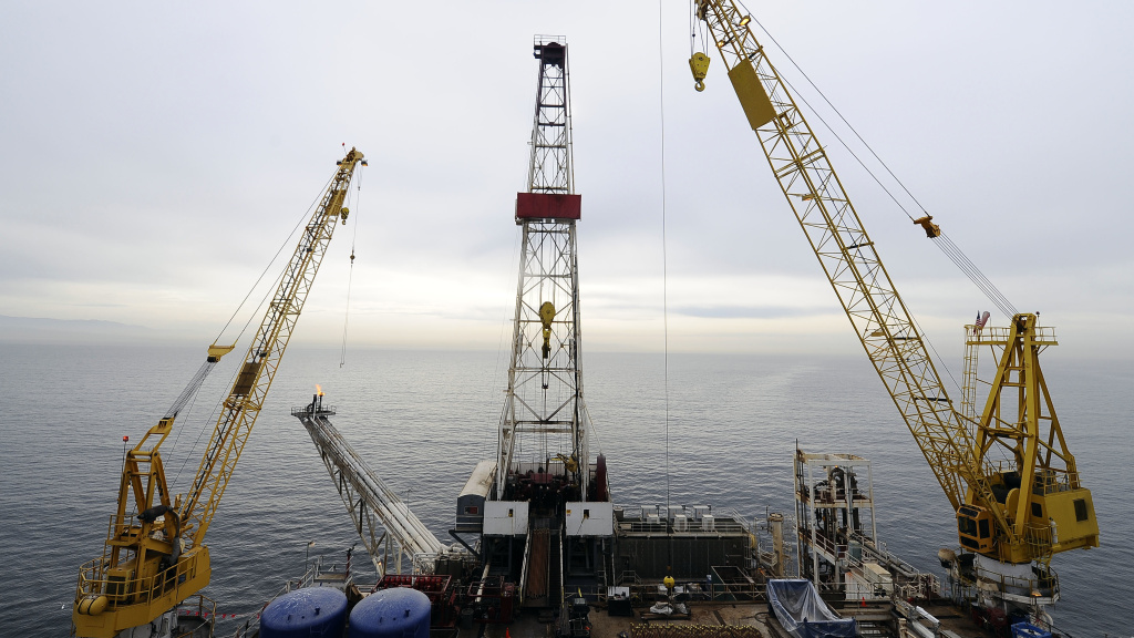 The offshore oil drilling platform called Gail, operated by Venoco, Inc., off the coast of Santa Barbara, Calif., in 2009.
