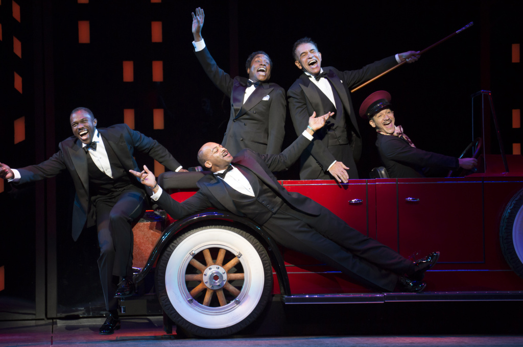 Joshua Henry, Brandon Victor Dixon, Billy Porter and Brian Stokes Mitchell, with Richard Riaz Yoder in