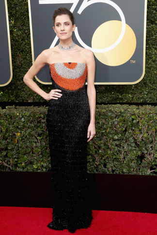 Zuri Hall,a correspondent for E! News, arrives for the 75th Golden Globe Awards on January 7, 2018, in Beverly Hills, California.
