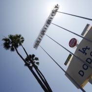 Pay to (watch them) play: Dodgers fans in and around Los Angeles can only see their team on TV if they have Time Warner cable service.
