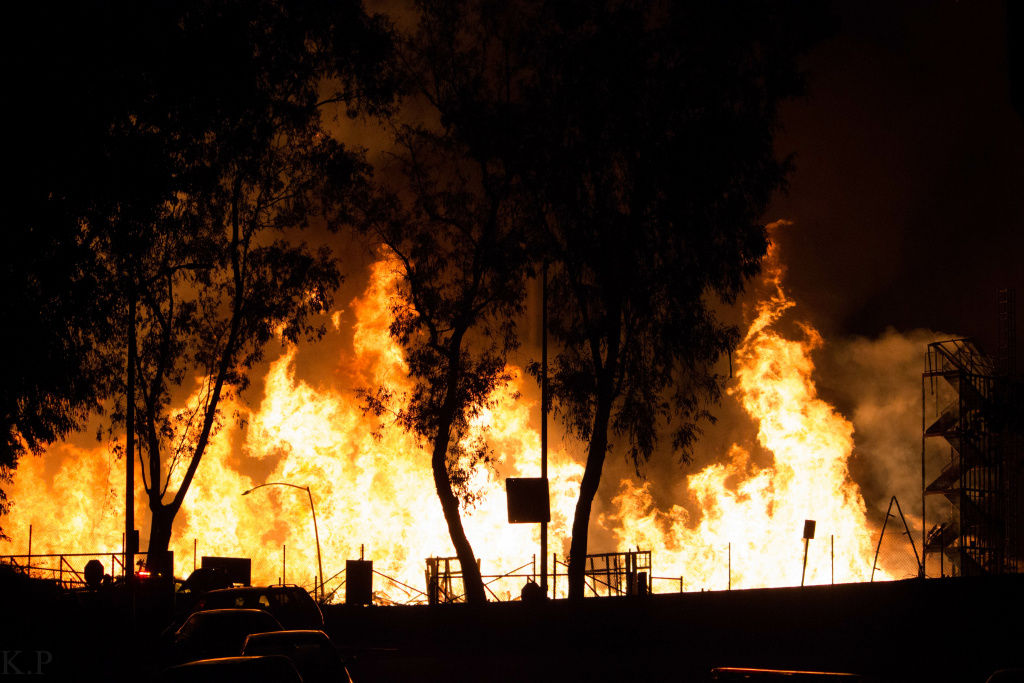 Investigators have determined the huge Da Vinci fire in downtown Los Angeles was arson.