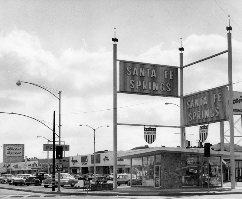 The city of Santa Fe Springs in 1961