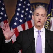 House Benghazi Committee Chairman, Trey Gowdy (R-SC), participates in a news conference with fellow Committee Republicans after the release of the Committees Benghazi report on Capitol Hill in Washington, DC.