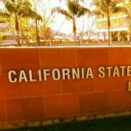 A sign at the California State University, Los Angeles campus.