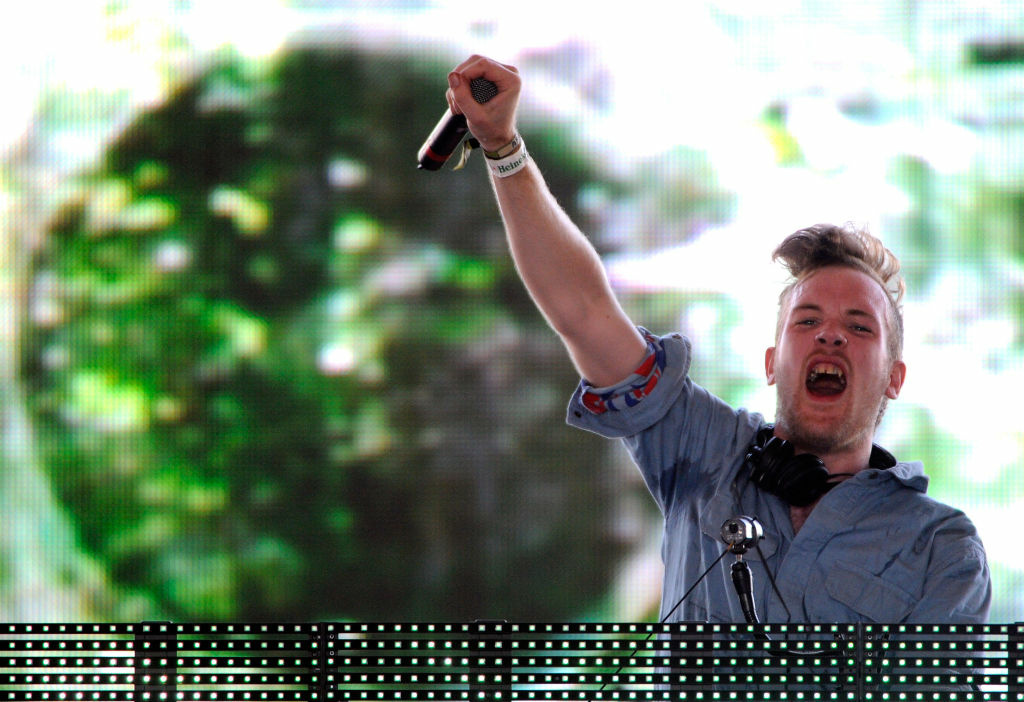 Dubstep artist Rusko at the 2010 Coachella Valley Music & Arts Festival.