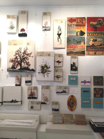 Wallspace Gallery on LaBrea - a major source for TV and film artwork
