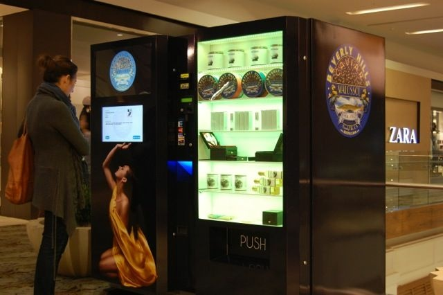 Beverly Hills Caviar recently installed three caviar vending machines at Southern California malls. The offerings range from $5 to $500 each.