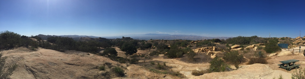 The view from Sage Ranch Park in the Simi Valley. The Santa Susana Field Lab is in the middle left.