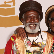 "Musician Winston Rodney, aka Burning Spear, won the 2009 Best Reggae Album Grammy Award for ""Jah Is Real."" He's seen here with his wife and business partner, Sonia Rodney."