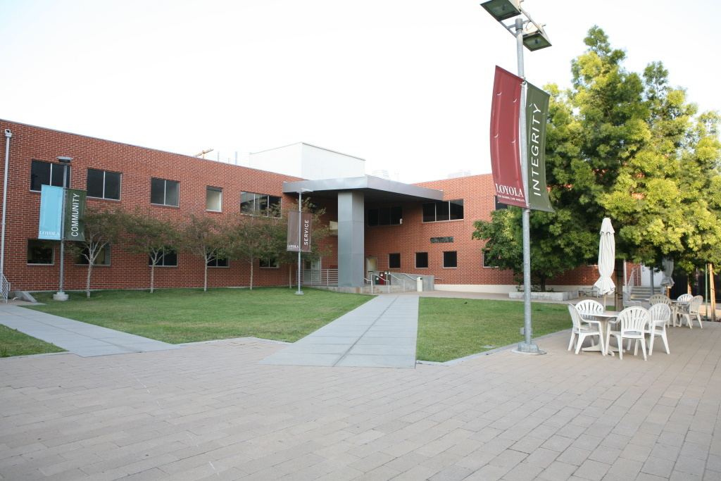 Image of the Loyola Law School campus.