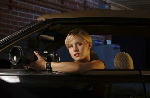 "Promotional image from the show ""Veronica Mars"" starring Kristen Bell."