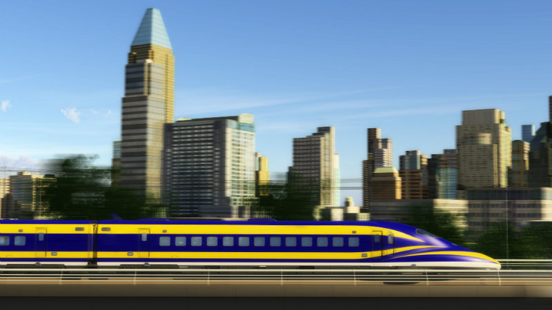 Conceptual photo of high-speed rail project.