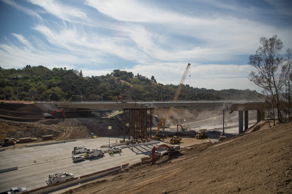 The Sepulveda Pass Improvements Project has forced some temporary shutdowns of the 405.