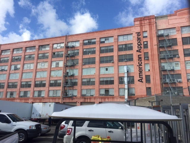 American Apparel's headquarters in downtown Los Angeles housed 2,166 workers.