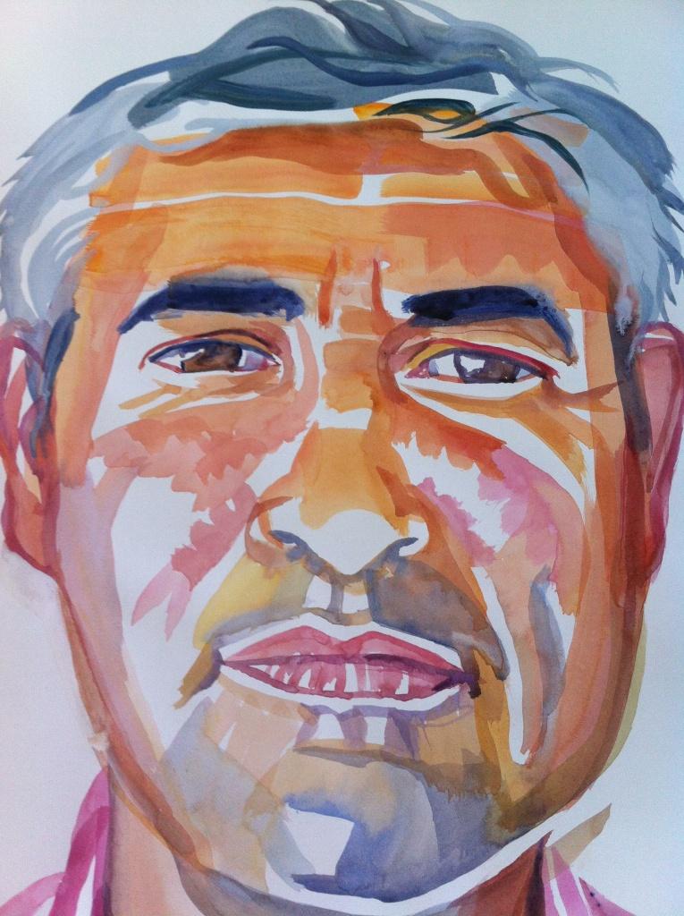 David Kipen portrait by Don Bachardy