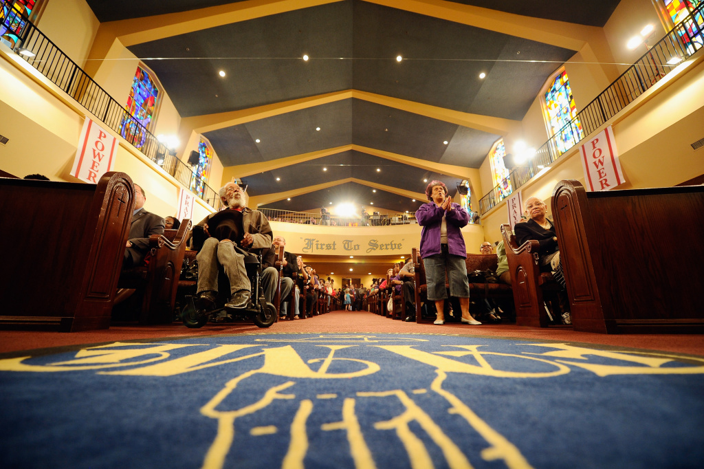 The First AME church on April 4, 2011 in Los Angeles, California.