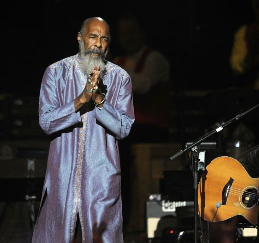 Richie Havens is seen during a concert f