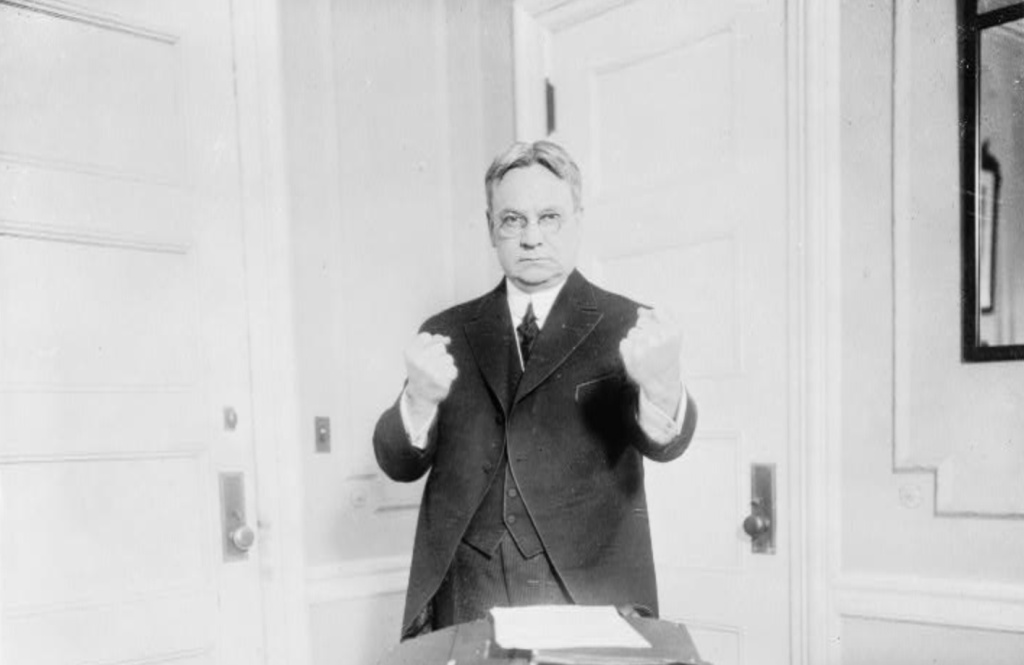 Hiram W. Johnson championed the initiative process in California.  Courtesy: Library of Congress http://www.loc.gov/pictures/item/94503429/