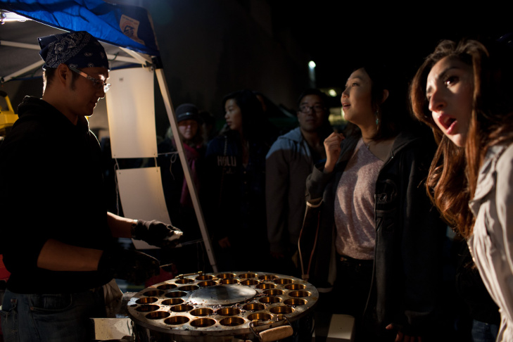 Leo Wu and his friends use a traditional recipe from Beijing for their lamb kebabs.