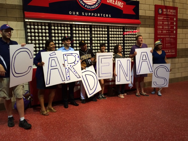 Fans of Congresswoman Linda Sanchez (D-Lakewood), the only female playing in the Congressional Baseball game
