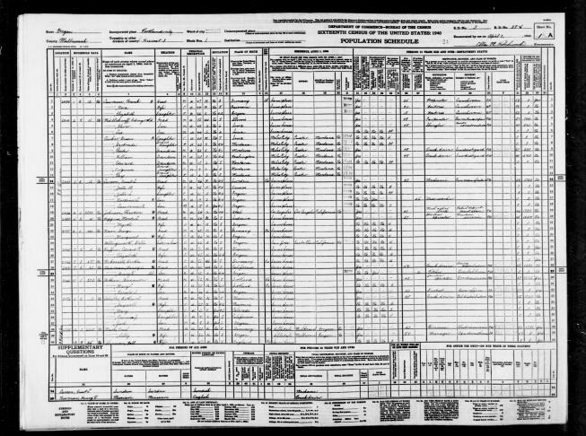 Approximately 120,000 enumerators were employed during 1940 - 1941.