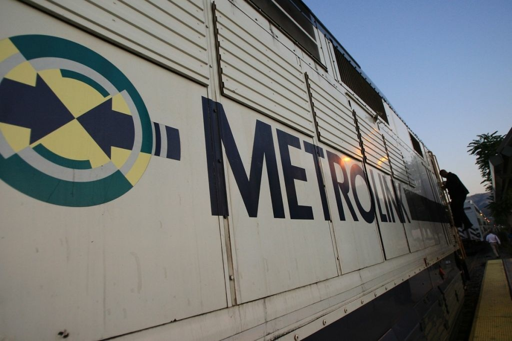 File: A conductor steps down from the engine of a Metrolink train on Sept. 15, 2008 in Chatsworth.