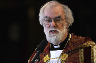 The Anglican leader, Archbishop of Canterbury Rowan Williams, criticized the election of a lesbian to serve as assisting bishop in the Diocese of Los Angeles.