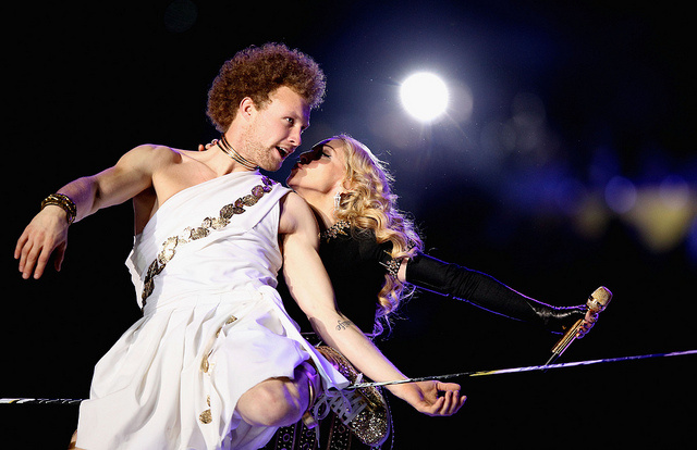 Madonna's performance at the 2012 Super Bowl half time show. (c/o Beacon Radio)