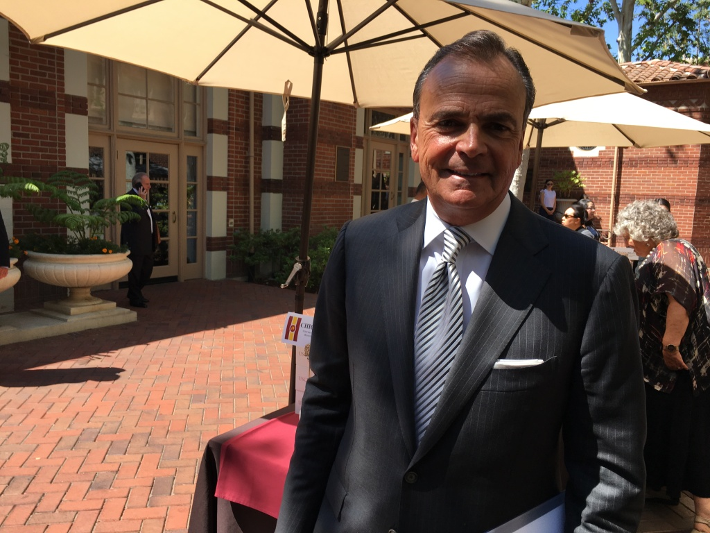 USC Board of Trustees Chair Rick Caruso hosts a campus forum to get input for the university's search for a new president.
