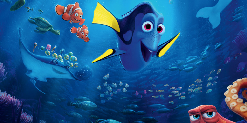 Still from the new film, Finding Dory.