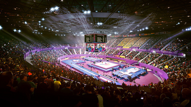 The Forum in Inglewood would host gymnastics.