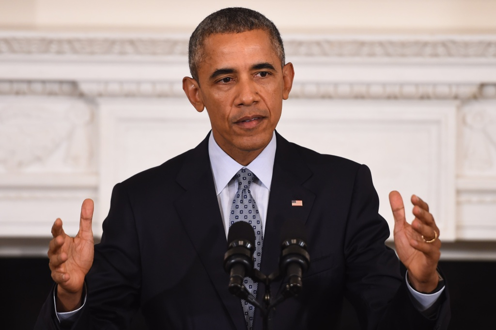 US President Barack Obama speaks during a press conference at the White House on October 2, 2015, in Washington, DC. Obama said Russian approach to Syria is 'recipe for disaster.'