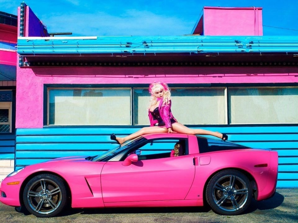 Slideshow Angelyne S Little Pink Corvette It S For Sale