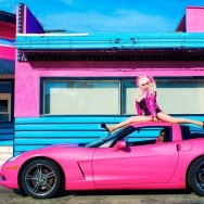 angelyne pink corvette
