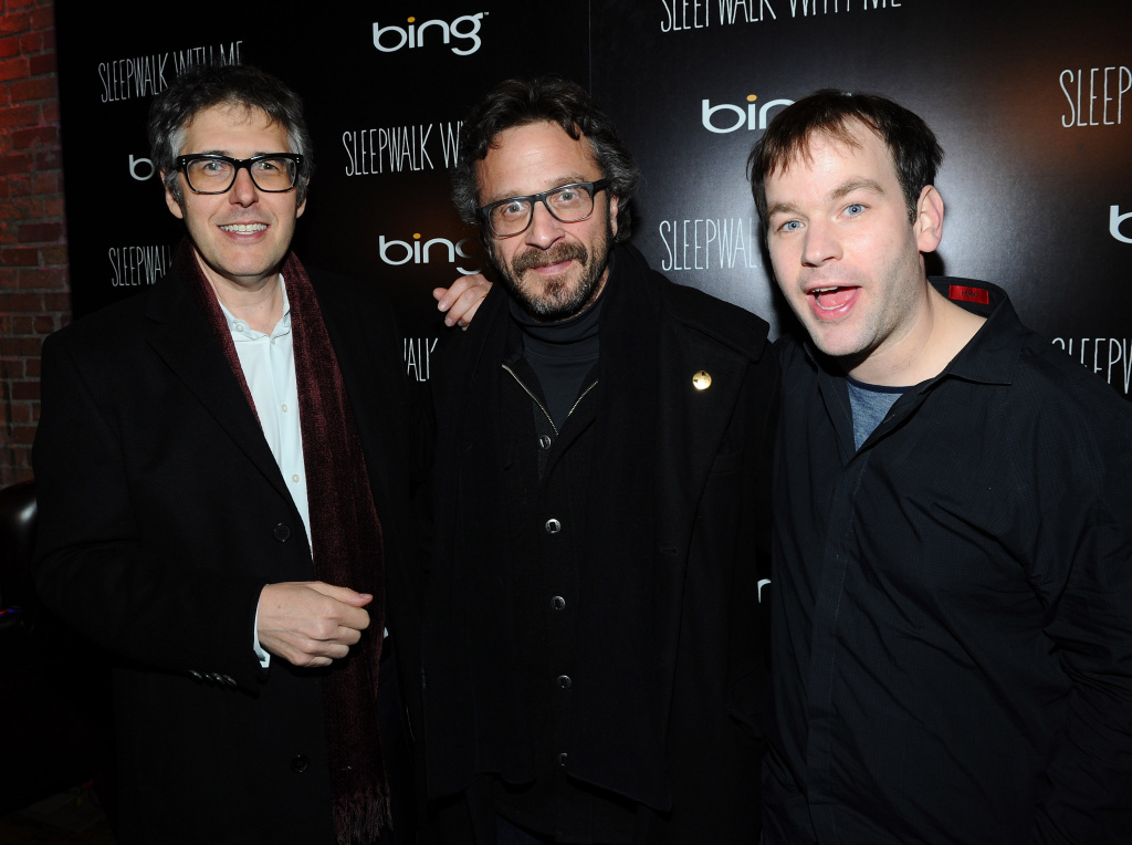 Writer Ira Glass, Dennis Boutsikaris and director Mike Birbiglia attend the Official Cast After-Party for