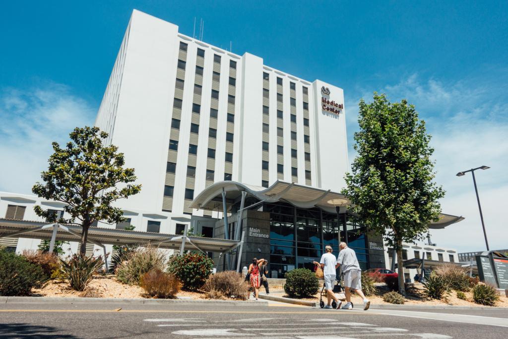 The VA hospital in Long Beach.