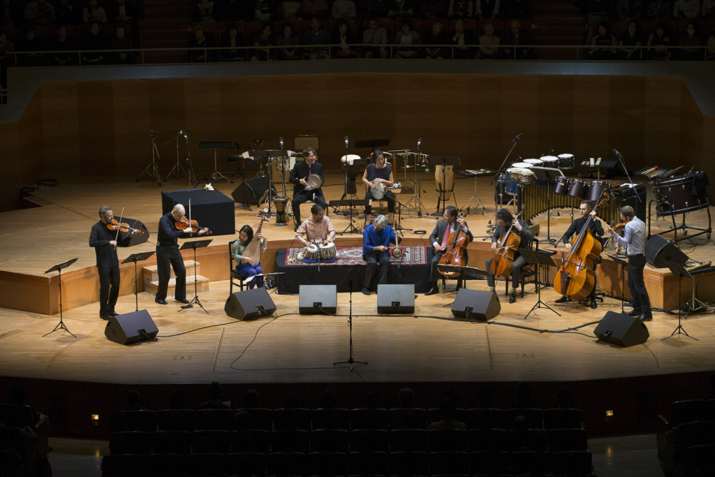 The Silk Road Ensemble with Yo-Yo Ma following a performance in Tokyo in 2014 @ Takenao Anzawa (PRNewsFoto/Silkroad)