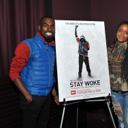 "(L-R) Deray McKesson, Brittany Packnett, and Wesley Lowery attend the ""Stay Woke: The Black Lives Matter Movement"" screening on May 24, 2016 in New York City."